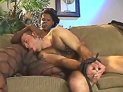 Black shemale fucks guy after oral