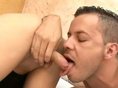 Shemale licked and sucked by guy