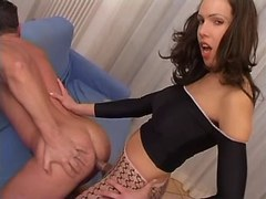 Guy fucked by beautiful slim tranny